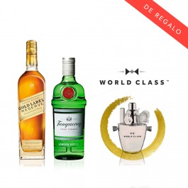 Promo Johnnie Walker Gold Reserve + Tanqueray con Bar Set de regalo