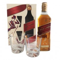 Johnnie Walker Red x 750ml Estuche con vasos