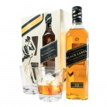 Whisky Johnnie Walker Black Label caja con vasos